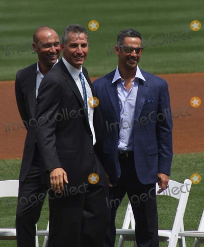 Andy Pettitte, Derek Jeter Photo - New York Yankees Retire Andy Pettitte Number46 on Sunday August 23rd 2015 Jose Posada Number 20 Was Also Retired on Saturday August 22nd 2015!!! Photo by William Regan- Globe Photos Inc.