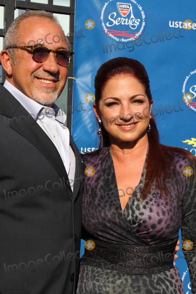 Gloria Estefan, Billie Jean King, Emilio Estefan, Emilio Estefan Jr., Arthur Ash, ASH, Billy Jean King Photo - The 2010 Us Opening Night Eremony Celebrity Arrivals Usta Billie Jean King National Tennis Center Arthur Ashe Stadium, Flushing, NY 08-30-2010 Photos by Sonia Moskowitz, Globe Photos Inc 2010 Gloria Estefan, Emilio Estefan Jr