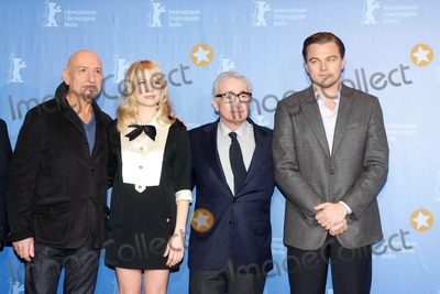 Ben Kingsley, Michelle Williams, Leonardo DiCaprio, Martin Scorsese Photo - Actors Sir Ben Kingsley (l-r) and Michelle Williams, director Martin Scorsese and actor Leonardo DiCaprio 