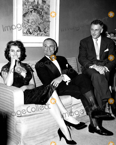 Sophia Loren, John Lodge, Stanley Kramer Photo - Sophia Loren, Stanley Kramer and Ambassador to Spain John Lodge 1957 Supplied by Globe Photos, Inc. Sophialorenretro