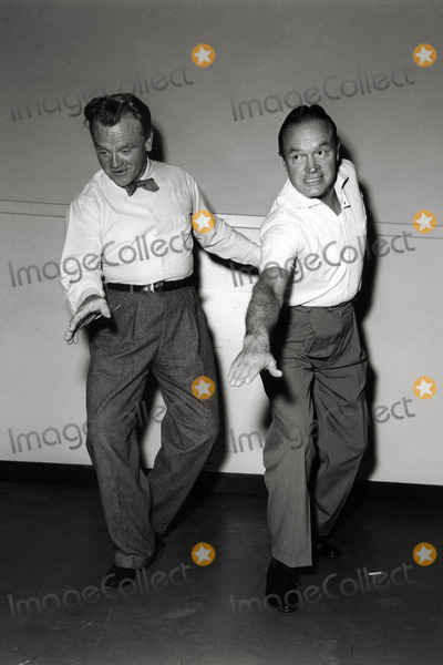 Bob Hope, James Cagney Photo - James Cagney and Bob Hope Rehearse For the Seven Little Foys Photo: Globe Photos Inc