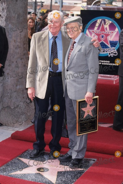Andy Griffith, Don Knotts Photo - Don Knotts with Andy Griffith Star on the Hollywood Walk of Fame in Los Angeles 2000 K17432mr Photo by Milan Ryba-Globe Photos, Inc.