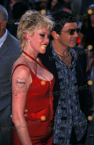 Antonio Banderas, Melanie Griffith, John B, Melanie Griffiths Photo - Once Upon a Time in Mexico Premiere at the Loews Lincoln Square, New York City 09/07/2003 Photo: John B Zissel/ Ipol/Globe Photos Inc. 2003 Melanie Griffith and Antonio Banderas