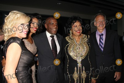 "Diane Watson, Areva Martin Photo - Special Needs Network's ""Evening Under the Stars"" a Toast to Old Hollywood Sony Pictures Studio, Culver City, CA 10/04/2014 Areva Martin, Steven Bradford, Diane Watson and Judge Michael P. Linfield Clinton H. Wallace/photomundo/Globe Photos Inc"