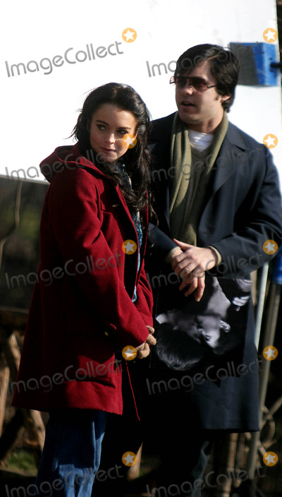Jared Leto, Lindsay Lohan Photo - Filming of ''Chapter 27'' in Central Park Date 02-02-06 Photo by John Barrett-Globe Photos,inc Lindsay Lohan and Jared Leto