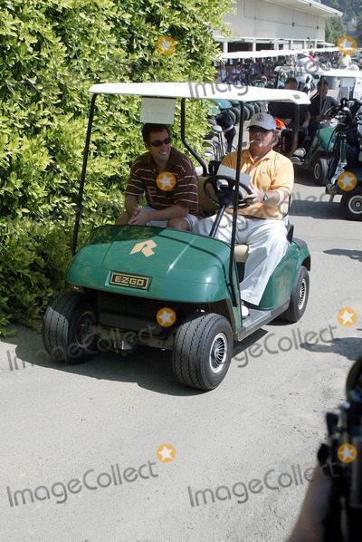 Adam Sandler, Jack Nicholson Photo - Adam Sandler & Jack Nicholson Actors in Golf Cart Afi Golf Classic 2003 Riviera Country Club, Los Angeles, USA 22/09/2003 Lag25095 Credit: Allstar/Globe Photos, Inc.