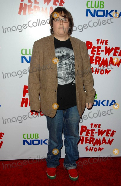 "Andy Milonakis, Pee-wee Herman Photo - Andy Milonakis attends Opening Night Red Carpet of the ""pee-wee Herman Show"" Held at the Nokia Theatre in Los Angeles, CA. 01-20-10 Photo by: D. Long- Globe Photos Inc. 2009"