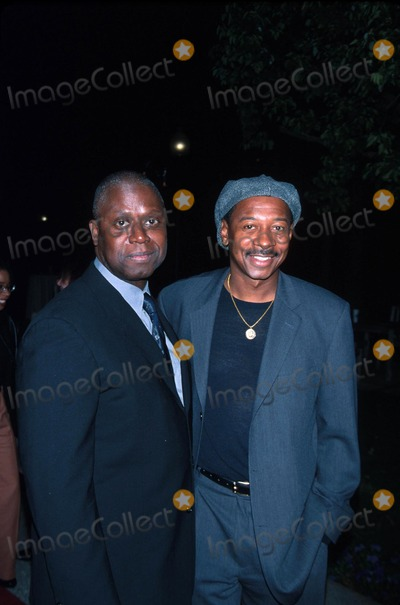 "Andre Braugher, Robert Townsend Photo - : 2/12/02 the Film Premiere of ""10,000 Black Men Named George"" at the Paramount Theater in Los Angeles, CA. Andre Braugher with Robert Townsend Photo by Milan Ryba/Globe Photos, Inc."