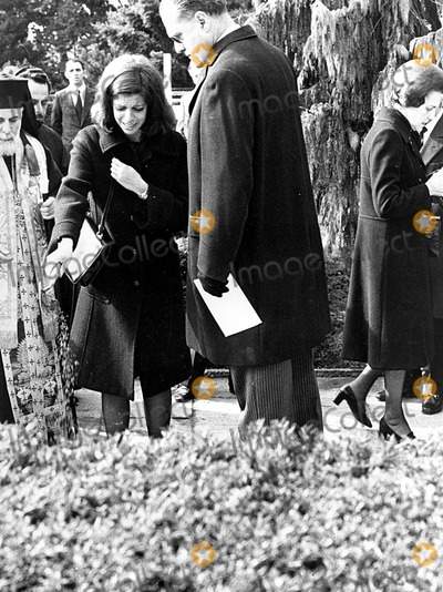 Photo - Christina Onassis at the Funeral of Alexander Onassis 1973 #9287 Photo by Hellas Press-ipol-Globe Photos, Inc.