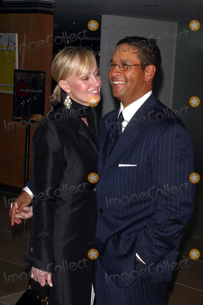 """Bryant Gumbel, Audrey Hepburn, BRYANT GUMBELL Photo - """"Audrey Hepburn: the Beauty of Compassion"""" an Exhibition and Auction Event to Benefit """"All Children in School"""" a Unicef Education Program at Sotheby's in New York City 04/21/2003 Photo by John Barrett/Globe Photos, Inc. 2003 Bryant Gumbel and Wife Hilary"""