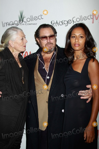 "Julian Schnabel, Rula Jebreal, Vanessa Redgrave Photo - ""Miral"" Premiere United Nations General Assembly Hall, NYC March 14, 2011 Photos by Sonia Moskowitz, Globe Photos Inc 2011 Vanessa Redgrave, Julian Schnabel, Rula Jebreal"