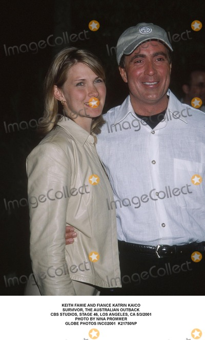 Photo - Keith Famie and Fiance Katrin Kaico Survivor, the Australian Outback Cbs Studios, Stage 46, Los Angeles, CA 5/3/2001 Photo by Nina Prommer Globe Photos Inc2001