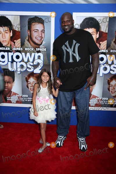 "Shaquille O, Shaquille O'Neal, Shaquille O'Neal, Alexys Nycole-Sanchez Photo - ""Grownups 2"" Premiere Amc Loews Lincoln Square, NYC July 10, 2013 Photos by Sonia Moskowitz, Globe Photos Inc 2013 Alexys Nycole Sanchez, Shaquille O'neal"
