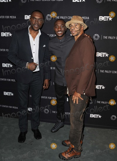 """Aaron Spears, Richard Brooks, B.J. Britt, BJ Britt Photo - Richard Brooks, B.j. Britt, Aaron Spears attending the Paley Center Presents an Evening with Bet Networks' """"Being Mary Jane"""" Held at the Paley Center For Media in Beverly Hills, California on December 11, 2014 Photo by: D. Long- Globe Photos Inc."""