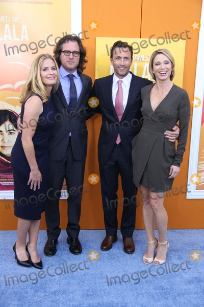 """Amy Robach, Andrew Shue, Davis Guggenheim, Elizabeth Shue Photo - Elizabeth Shue, Davis Guggenheim, Andrew Shue, Amy Robach Attend the New York Premiere of """"He Named Me Malala"""" the Ziegfeld Theater, NYC September 24, 2015 Photos by Sonia Moskowitz, Globe Photos Inc"""