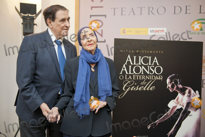 Gisele, Giselle, Alicia Alonso Photo - SEVILLE, SPAIN, November 4: Pedro Simon and Alicia Alonso (L-R) attends the presentation of the book, -Alicia Alonso or eternity of Giselle- of the writer Giselle Mayda Bustamante in the theater La Maestranza in Seville, Spain.
